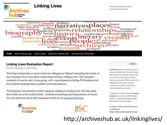 Lessons from 'Linking Lives' and 'WW1 Discovery' Projects Slide 3