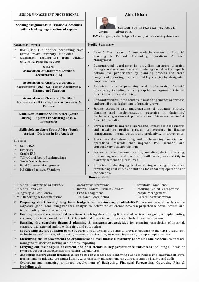 Nice Cv Chartered Accountant South Africa Motif - Resume Ideas ...