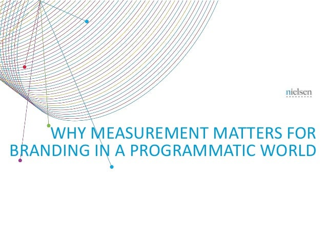 WHY MEASUREMENT MATTERS FOR  BRANDING IN A PROGRAMMATIC WORLD