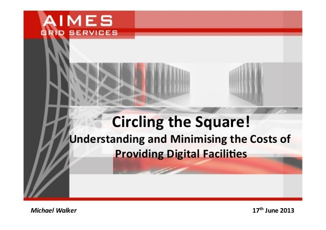 Circling the Square! Understanding and Minimising the Costs of Providing Digital Facili<es Michael...