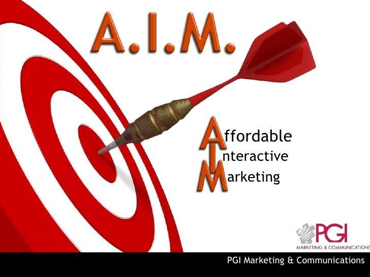 ffordablenteractive arketingPGI Marketing & Communications