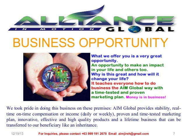 what is aim in business