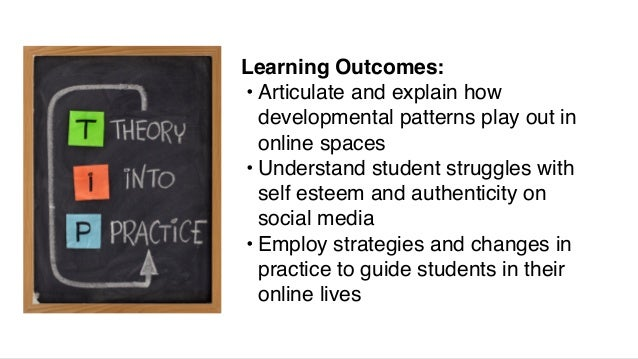 Learning Outcomes: • Articulate and explain how developmental patterns play out in online spaces • Understand student stru...