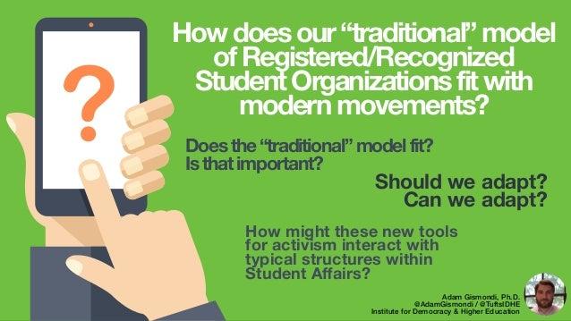 ? Should we adapt? Can we adapt? Adam Gismondi, Ph.D. @AdamGismondi / @TuftsIDHE Institute for Democracy & Higher Educatio...