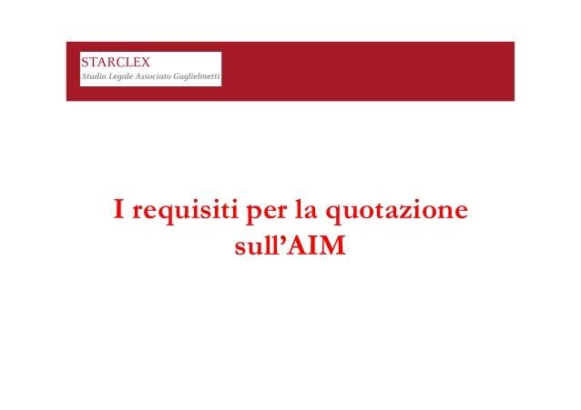 Aim Italia - la buona governance come strumento di crescita