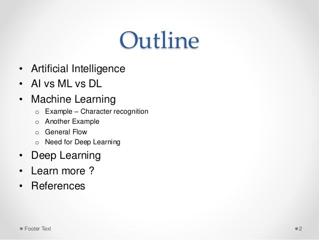 Artificial Intelligence, Machine Learning and Deep Learning Slide 2