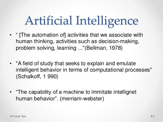 Artificial Intelligence, Machine Learning and Deep Learning Slide 3