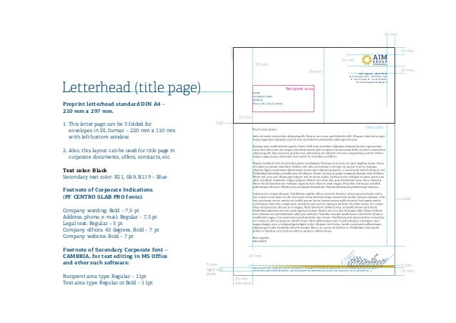 Lovely design letterhead design with iso logo aim group international spiritdancerdesigns Choice Image