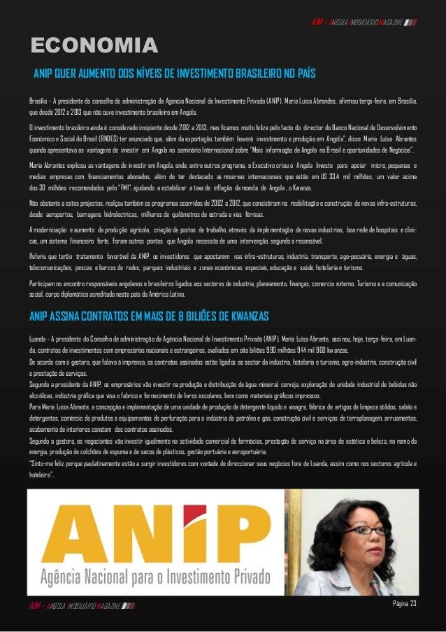 89a9658ee 23. Página 23 AIM - ANGOLA IMOBILIÁRIO MAGAZINE ECONOMIA ...