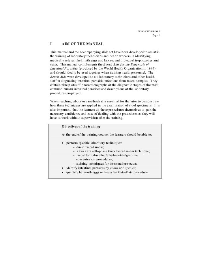 WHO/CTD/SIP/98.2                                                                        Page 1I       AIM OF THE MANUALThi...