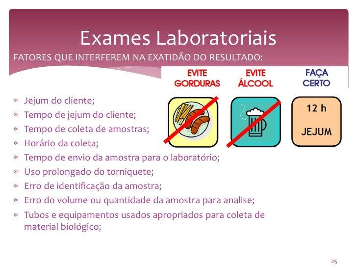 Exames laboratoriais jejum