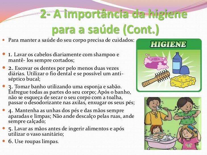 Suficiente A importância da higiene para a saúde TA47
