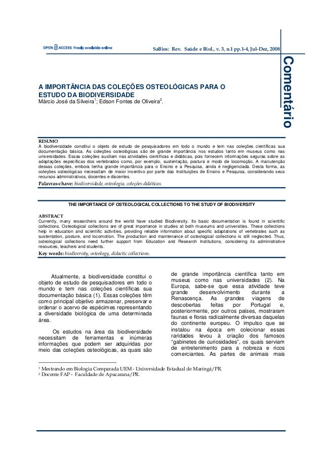 SaBios: Rev. Saúde e Biol., v. 3, n.1 pp.1-4, Jul-Dez, 2008                                                               ...