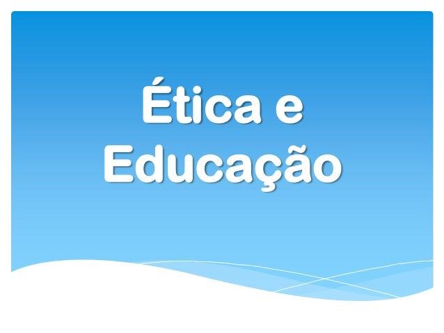Ética eEducação