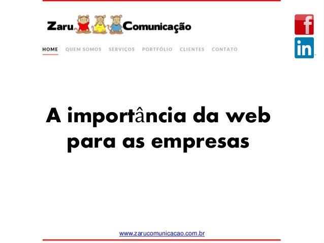 A importância da web para as empresas