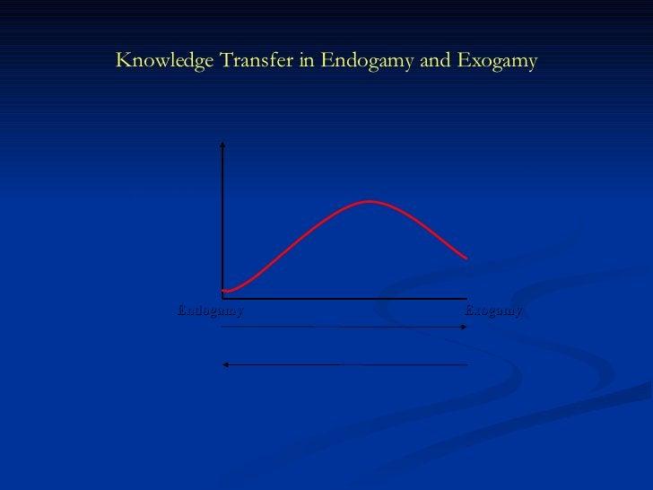 Knowledge Transfer in Endogamy and Exogamy Exogamy Endogamy Pooled   Resources   Diversity Knowledge Bases Similarity Know...