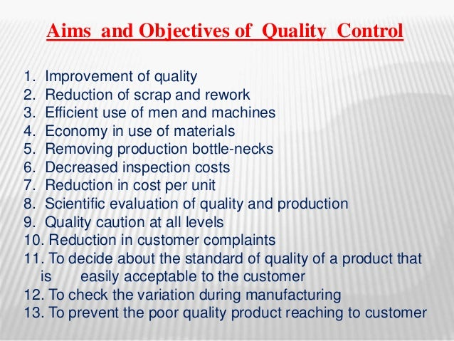Aims and objectives of quality control 3 aims and objectives of quality thecheapjerseys Gallery