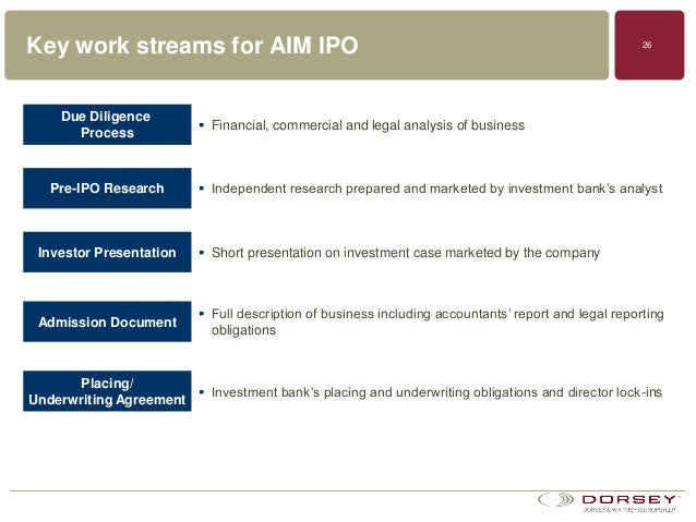 Legal due diligence for ipo