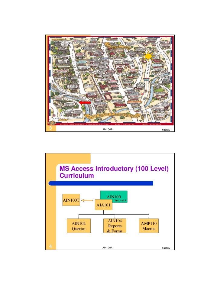AIN100B Microsoft Access Level 2 Slide 3