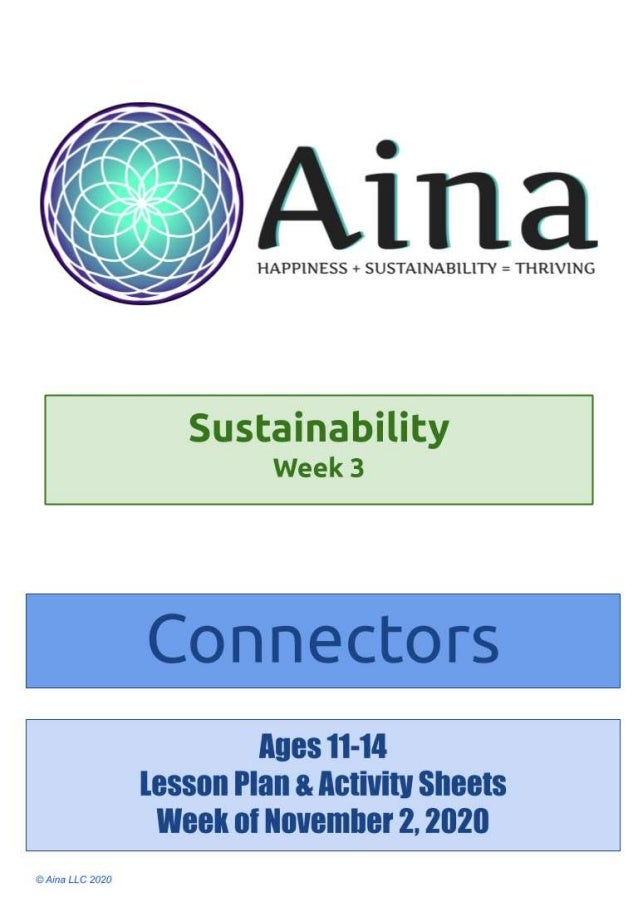 Sustainability Connectors (Ages 11-14) | November 2, 2020 Create art together! Join your kids making art! Paint, take pict...