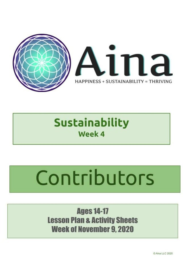 Sustainability Contributors (Ages 14-17) | November 9, 2020 Discuss the list of zero waste practices together, and talk ab...