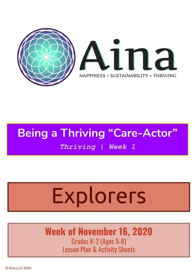 "We can be ""care-actors"" in many different ways at many different levels. How do or how can everyone at home be ""care-actor..."