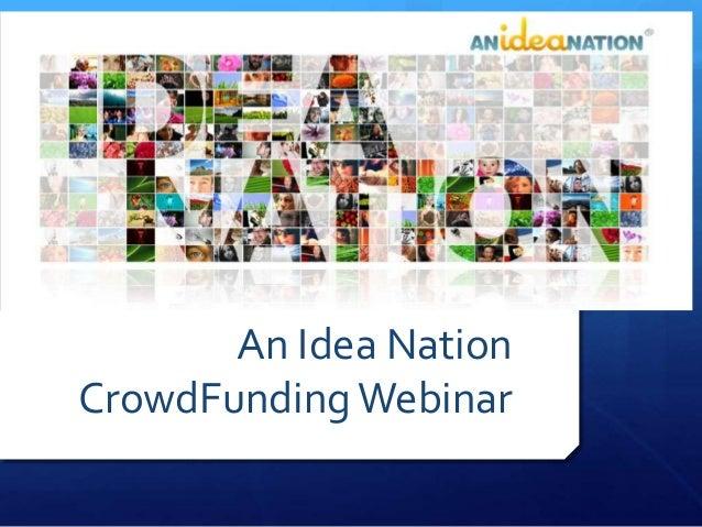 An Idea Nation CrowdFundingWebinar