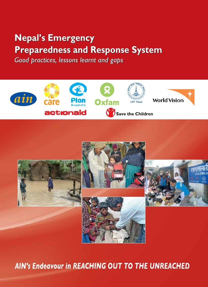 Ain emergency preparedness and response report