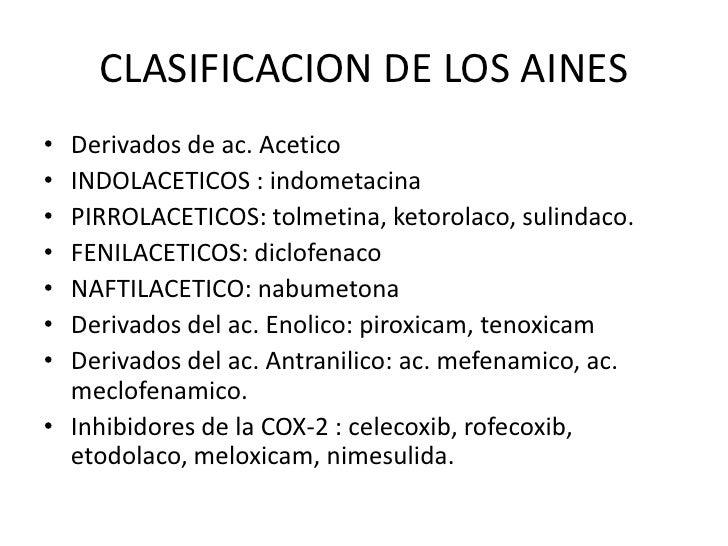 antiinflamatorios no esteroideos clasificacion
