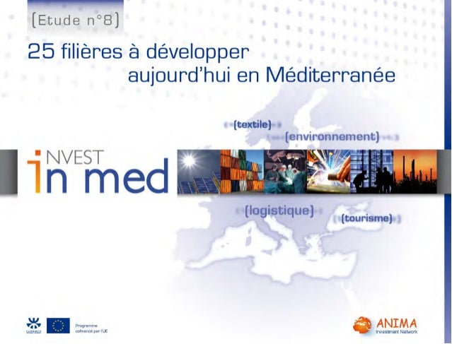 Invest in Med : contribuer à dessiner un nouveau paysage économique Med Le programme Invest in Med Lancé en avril 2008, In...