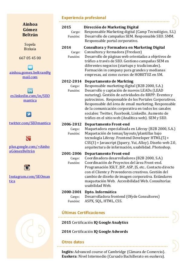Moderno Certificaciones Para Currículum Galería - Ideas De Ejemplo ...