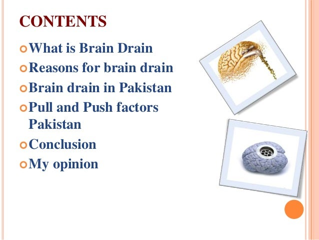 "report on brain drain in pakistan essay Short speech on ""brain drain pakistan and russia are the sufferers of this problem and losing their talent very rapidly related essays: what is brain drain."