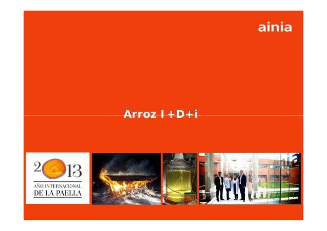 www.ainia.es 1Arroz I+D+i