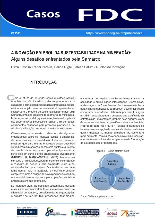 Gestão Estratégica do Suprimento e o Impacto noDesempenho das Empresas BrasileirasA inovação em prol da sustentabilidade n...