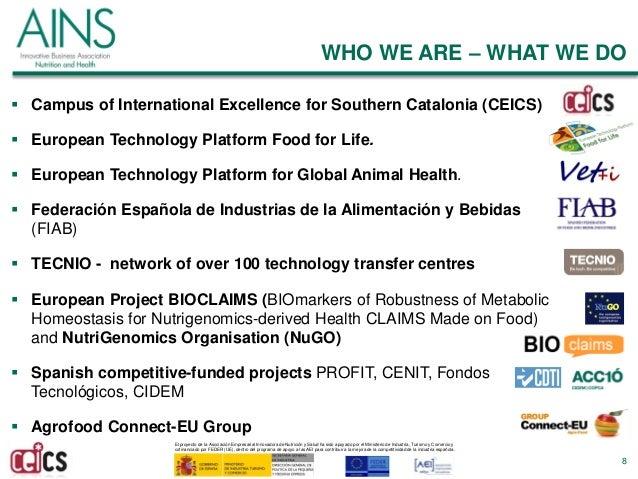 El proyecto de la Asociación Empresarial Innovadora de Nutrición y Salud ha sido apoyado por el Ministerio de Industria, T...