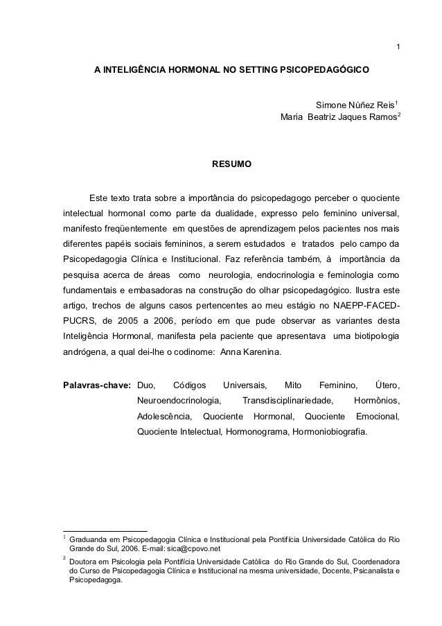 1           A INTELIGÊNCIA HORMONAL NO SETTING PSICOPEDAGÓGICO                                                            ...