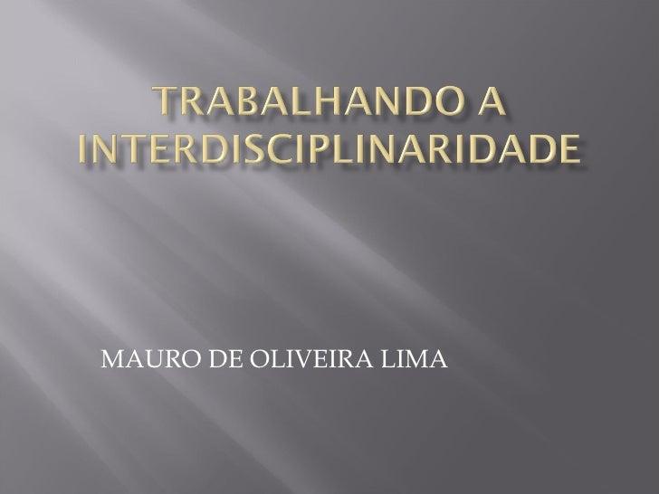 MAURO DE OLIVEIRA LIMA