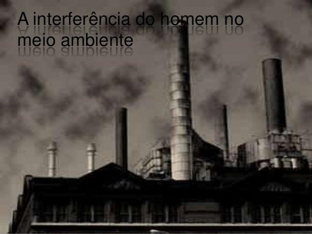 A interferência do homem nomeio ambiente
