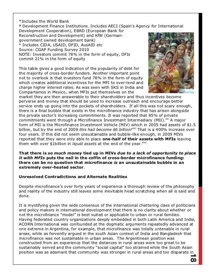 acorn international microfinance report