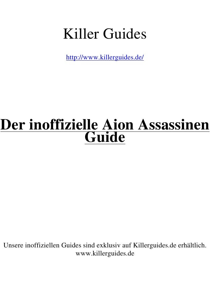 Aion Assasine Guide No Restriction
