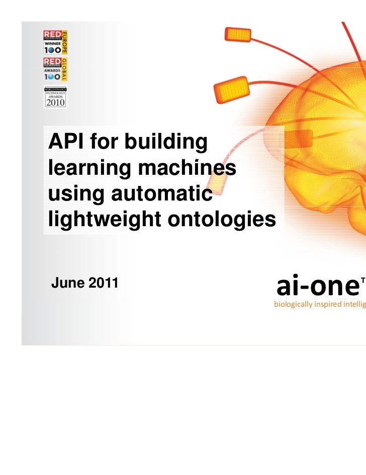 Outline of discussionTopic-Mapper: ai-one for Text  •   ai-one technical overview  •   Topic-Mapper SDK  API for building ...