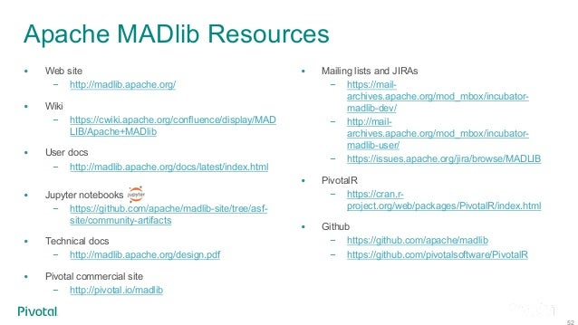 AI on Greenplum Using Apache MADlib and MADlib Flow - Greenplum Summ…