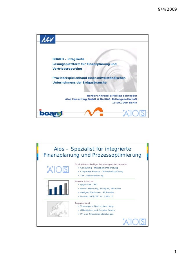 9/4/2009 1 BOARD – integrierte Lösungsplattform für Finanzplanung und Vertriebsreporting Praxisbeispiel anhand eines mitte...