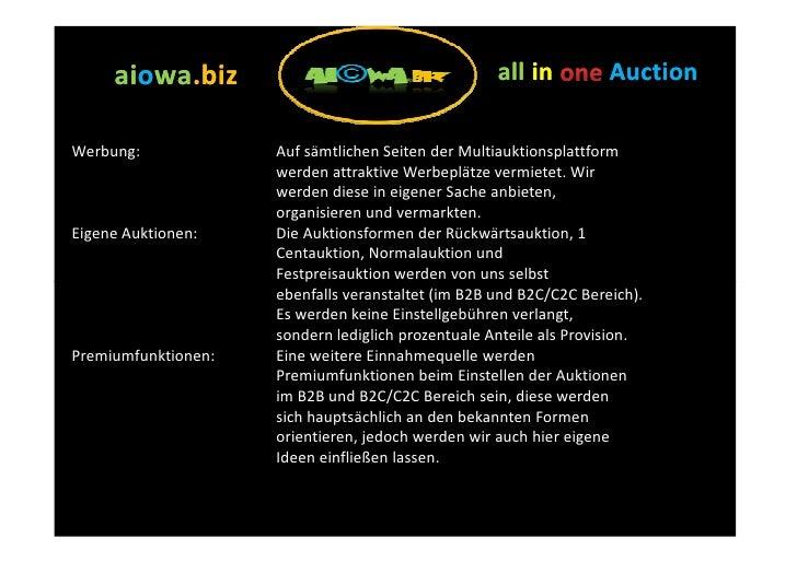 aiowa.biz      aiowa.biz                                      all in          Auction  Werbung:             Auf sämtlichen...