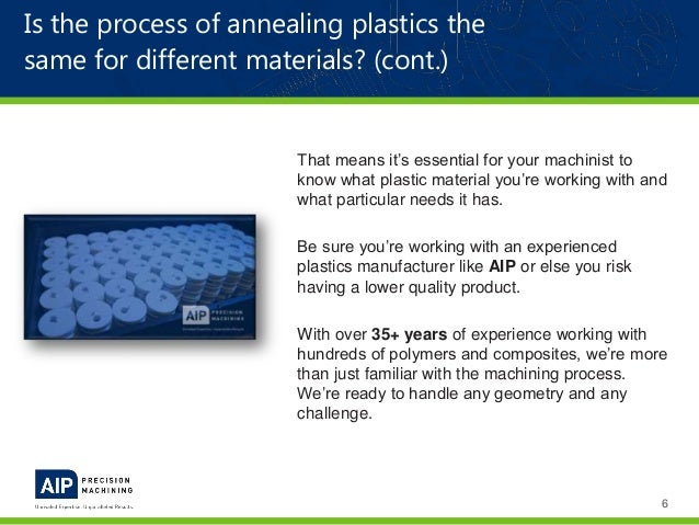 Stress Relieving & Annealing Plastics | AIP Precision Machining