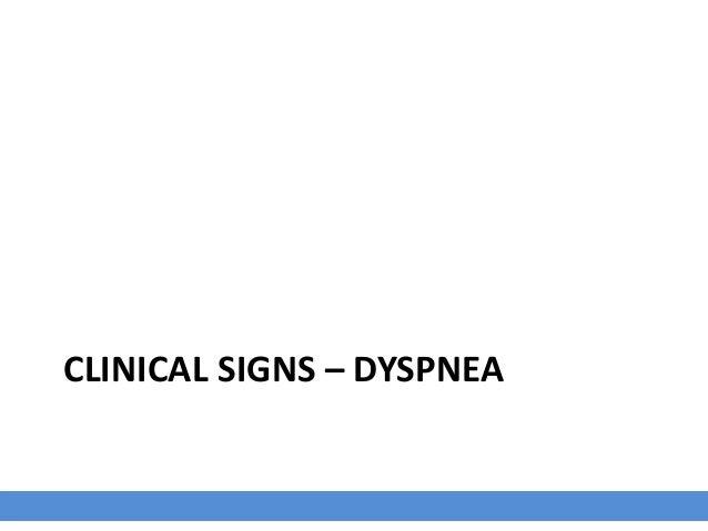 CLINICAL SIGNS – DYSPNEA