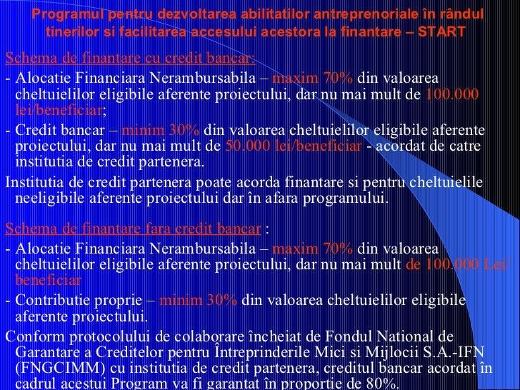 Programul pentru dezvoltarea abilitatilor antreprenoriale în rândul tinerilor si facilitarea accesului acestora la finanta...