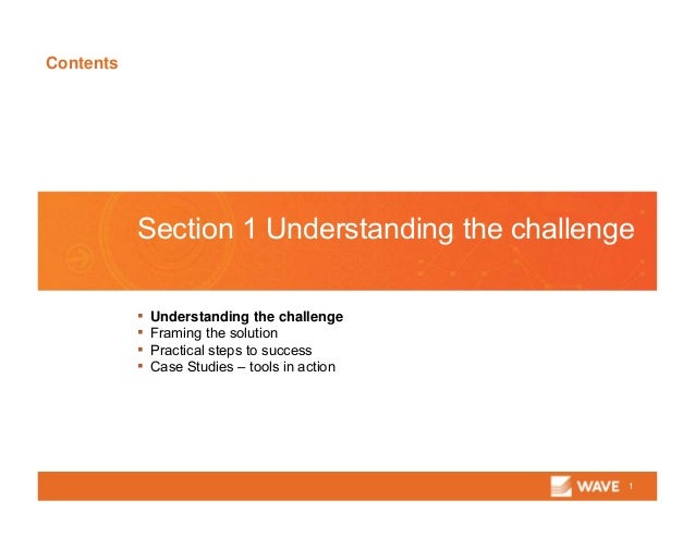 Contents 1 Section 1 Understanding the challenge ▪ Understanding the challenge ▪ Framing the solution ▪ Practical steps to...