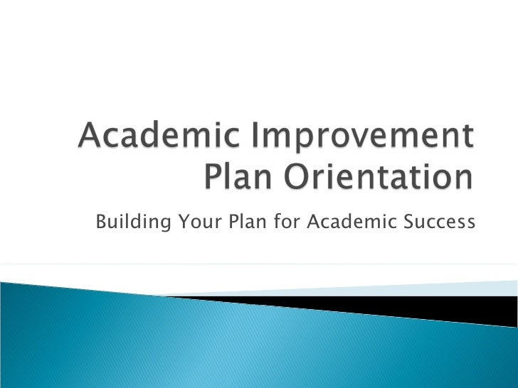 Building Your Plan for Academic Success