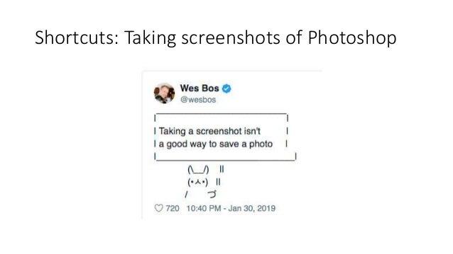 Shortcuts: Taking screenshots of Photoshop